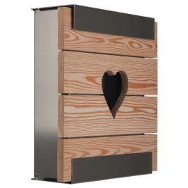 Postlåda glasnost.wood.heart