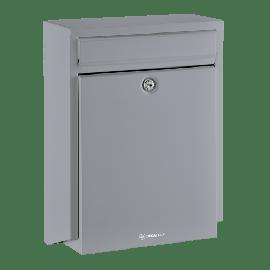 Silvergrå brevlåda Brabantia D100