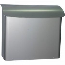 Safepost 21 brevlåda i silvergrå färg