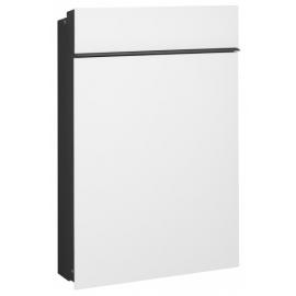 Vit smal design brevlåda Serafini 30.7180.43