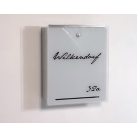 Letterman 3 design postlåda med vit glasfront 559 A