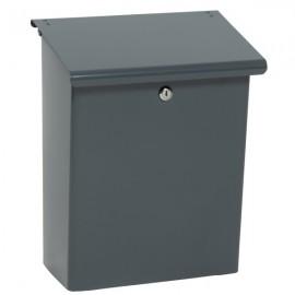 Grå postlåda med lås 79592 safepost basic