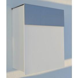 Bravios Alto brevlåda i vitt med rostfri lucka