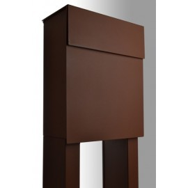 Rostbrun Bravios Alto brevlåda med stativ