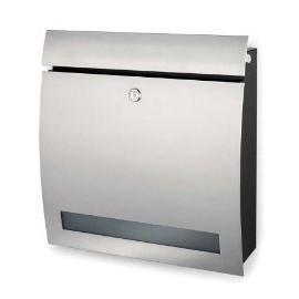Brevlåda Blomus design - rostfritt stål med fönster 65121