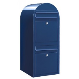 Blå brevlåda Bobi Duo