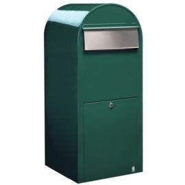 Brevlåda BOBI JUMBO - Grön RAL6005 med rostfri lucka