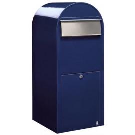 Brevlåda BOBI JUMBO - Blå RAL5003 med rostfri lucka