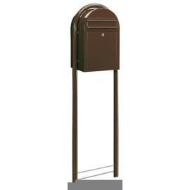 Rund stativ för Bobi brevlådor - Brun RAL8017