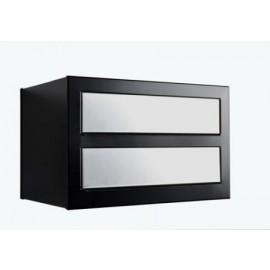 Bravios Cube 2 svart med rostfri lucka
