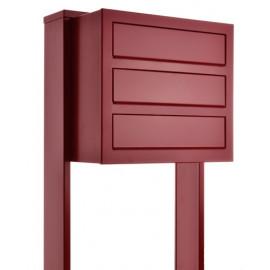 Bravios Cube 3 röd med stativet