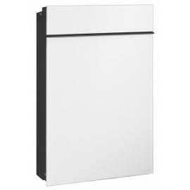 Slim design brevlåda i vitt från Serafini