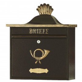 Nostalgisk brevlåda Heibi Trako svart/ guld