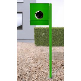 letterman 2 med stativ grön