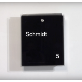 Letterman 3 design postlåda med svart glasfront