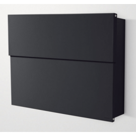 Extra stor svart design postlåda Letterman 2