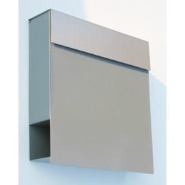 Bravios Manhattan brevlåda grå metallic med rostfri lucka