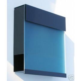 Brevlåda Manhattan blå Transparency brevlåda