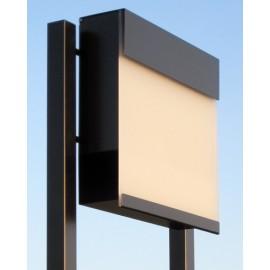 Bravios Manhattan brevlåda vit transparent front med stolpe