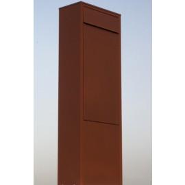 Rostbrun brevlåda Bravios Big Box