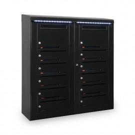 Utomhus fastighetsbox RENZ Excellence 799D Liggande 35mm inkast - Valfri RALfärg 799d022