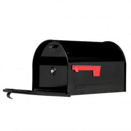 Låsbar amerikansk postlåda - svart 16KB1