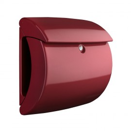 postlåda i plast Piano merlot vinröd