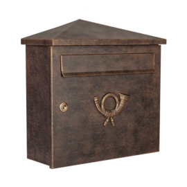 Postlåda Heibi pina guld/brun 64283-002