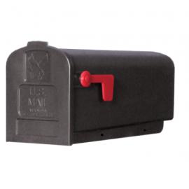 Amerikansk brevlåda i plast - svart