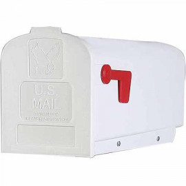 Amerikansk brevlåda i plast - vit