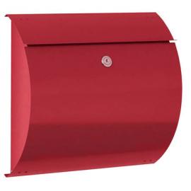 Röd postlåda med lås S3150-RO