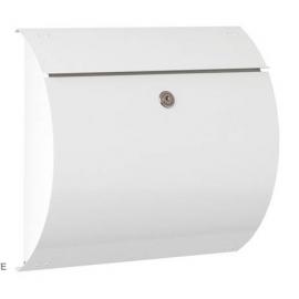 vit postlåda med lås S3150-WE