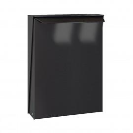 Svart design postlåda S-box