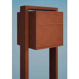 Design postlåda med stativ Soprano rostbrun