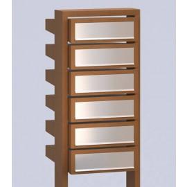 Stairs postlåda rostbrun