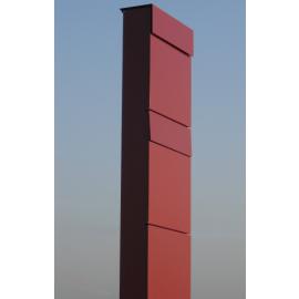Bravios markbrevlåda The Box for Two i rött