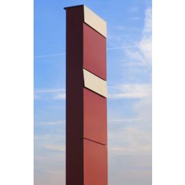 Bravios markbrevlåda The Box for Two röd med rostfri lucka