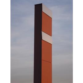 Rostbrun Bravios markbrevlåda The Box for Two med rostfri lucka