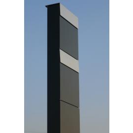 Bravios markbrevlåda The Box for Two svart rostfri stål