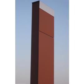 Rostbrun markpostlåda med rostfri lucka Bravios The Box