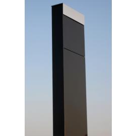 Bravios markbrevlåda The Box svart med rostfri lucka