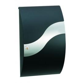 Brevlåda ME-FA Trend Wave - Svart/Rostfri 630100M