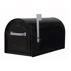 Låsbar amerikansk brevlåda i svart