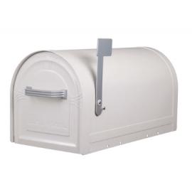 Låsbar amerikansk brevlåda i vitt