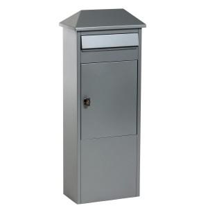 Silver Safepost 100 LED brevlåda
