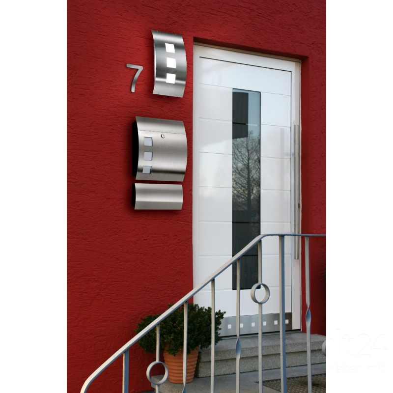 Högkvalitativa brevlådor tillverkade av V2A fint borstat rostfritt stål