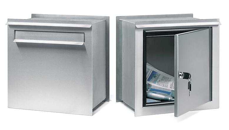 Inbyggda och infällda brevlådor